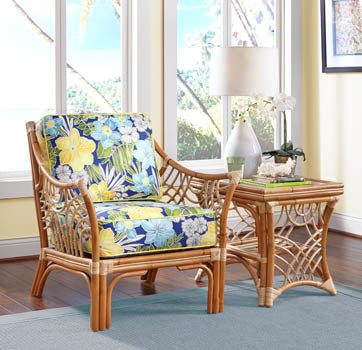 Spice Islands Spice Islands Wicker Bali Wicker 6 Piece Seating Set Outdoor Seating Set - Rattan Imports