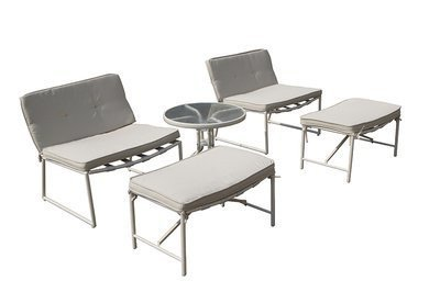 Thy-HOM - Della 5-piece Patio Conversation Set -  - Conversation Set