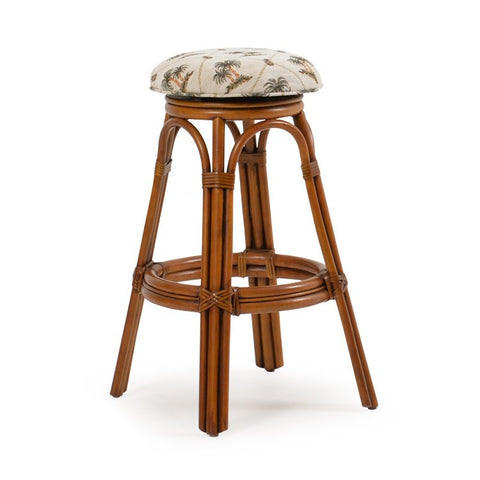 Palm Springs Rattan - Backless Swivel Bar Stool 45 -  -