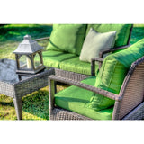 Baymont 4-Piece All Weather Wicker Conversation Set-Thy-HOM-Rattan Imports