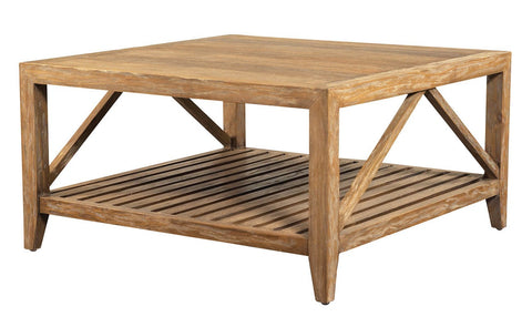 Designer Wicker & Rattan By Tribor CABIN SQUARE TABLE Table - Rattan Imports