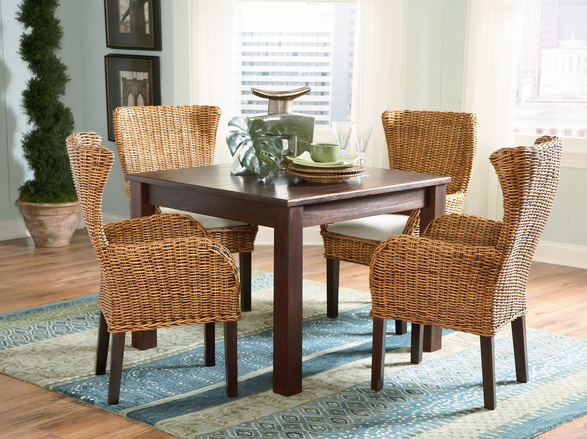 Designer Wicker & Rattan By Tribor Clarissa Porch Dining Arm Chair Chair - Rattan Imports