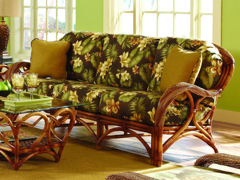Spice Islands Spice Islands Caneel Bay Loveseat Cinnamon Loveseat - Rattan Imports