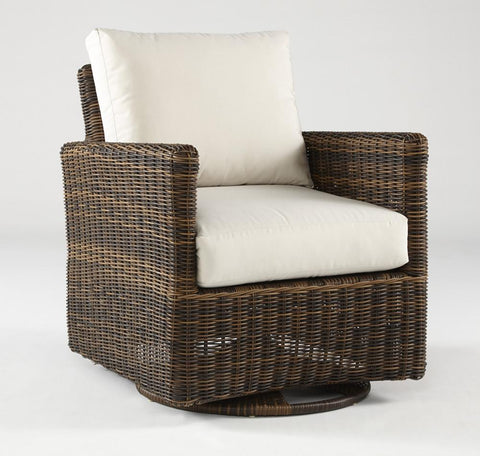 South Sea Rattan South Sea Rattan Del Ray Swivel Glider Swivel Glider Chair - Rattan Imports