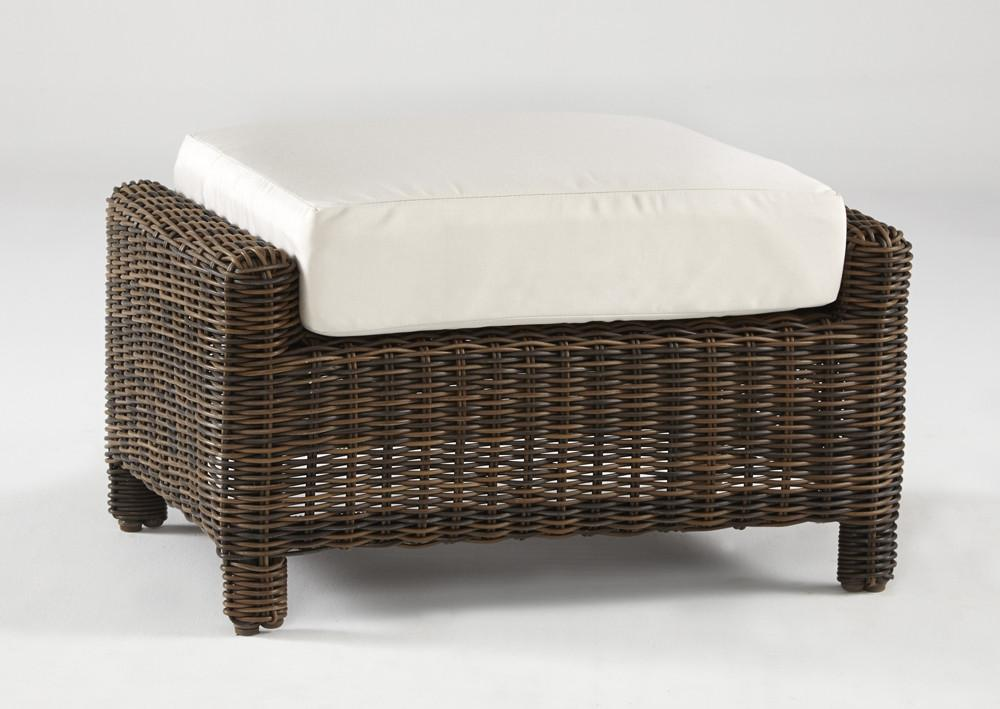 South Sea Rattan South Sea Rattan Del Ray Ottoman Ottoman - Rattan Imports