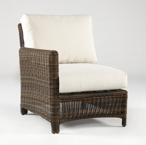 Del Ray End Piece Left-Side Facing Sectional by South Sea Rattan-South Sea Rattan-Rattan Imports