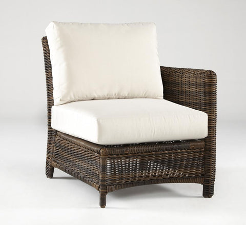 South Sea Rattan South Sea Rattan Del Ray End Piece Right-Side Facing Sectional Piece - Rattan Imports