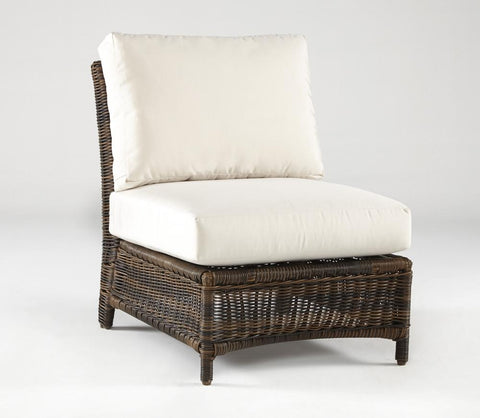 South Sea Rattan South Sea Rattan Del Ray Armless Wicker Sectional Chair Sectional Piece - Rattan Imports