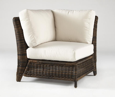 South Sea Rattan South Sea Rattan Del Ray  Wicker Corner Sectional Chair Sectional Piece - Rattan Imports