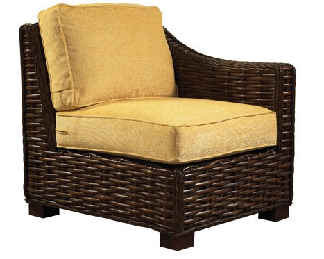 Designer Wicker & Rattan By Tribor Freeport Right Arm Chair Chair - Rattan Imports