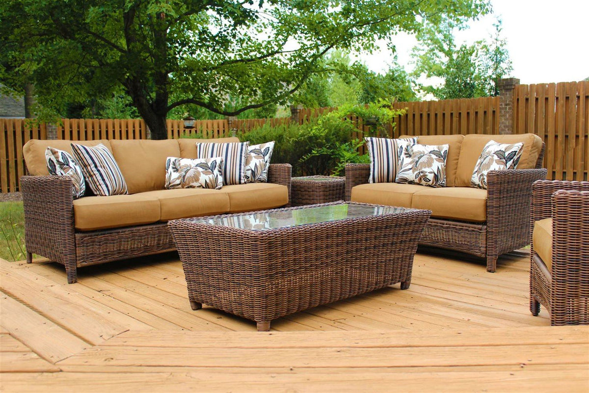 South Sea Rattan South Sea Rattan Del Ray 5-Piece Sofa Set Seating Set - Rattan Imports