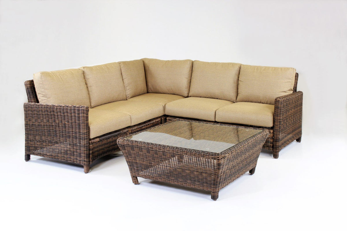 South Sea Rattan South Sea Rattan Del Ray End Piece Left-Side Facing Sectional Sectional Piece - Rattan Imports