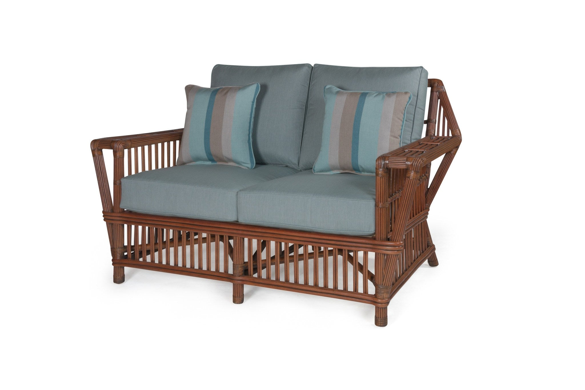 Williamsburg Wicker Loveseat By Designer From Tribor Rattan Imports