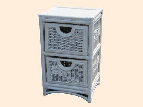 Spice Islands Spice Islands Regatta 2 Drawer Unit White Drawer - Rattan Imports