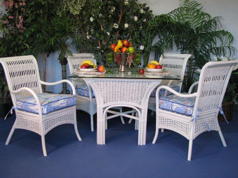 Spice Islands Spice Islands Regatta 6 Piece Dining Set White Dining Set - Rattan Imports