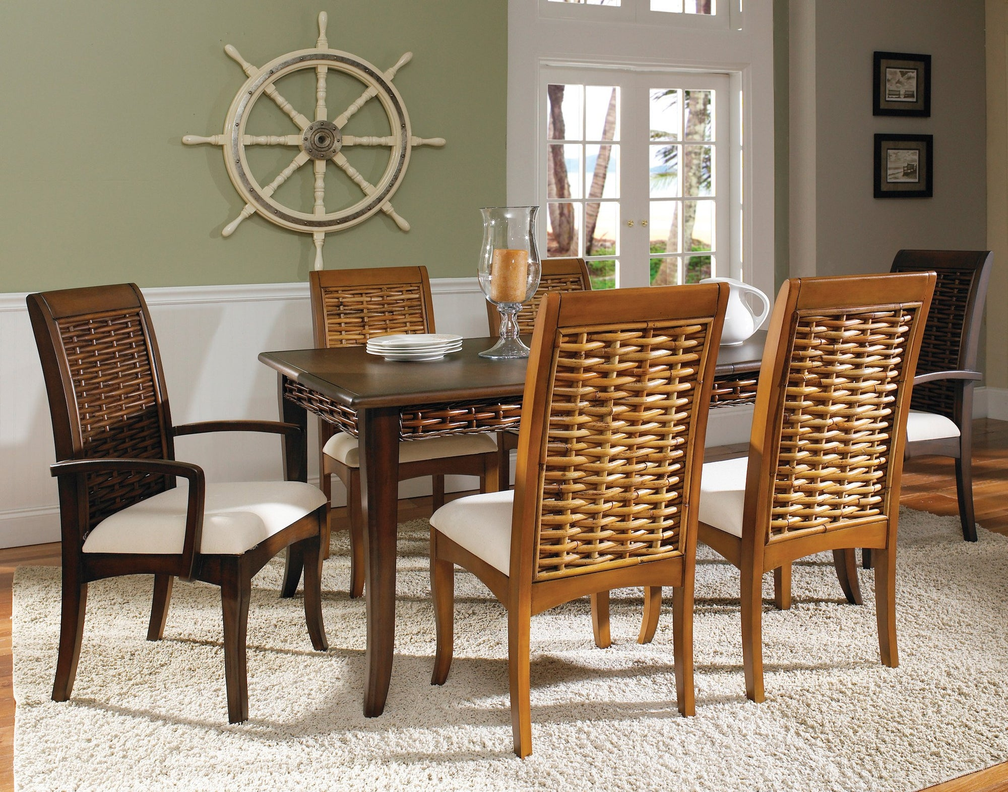 Designer Wicker & Rattan By Tribor Freeport Dining Arm Chair by Designer Wicker from Tribor Dining Chair - Rattan Imports