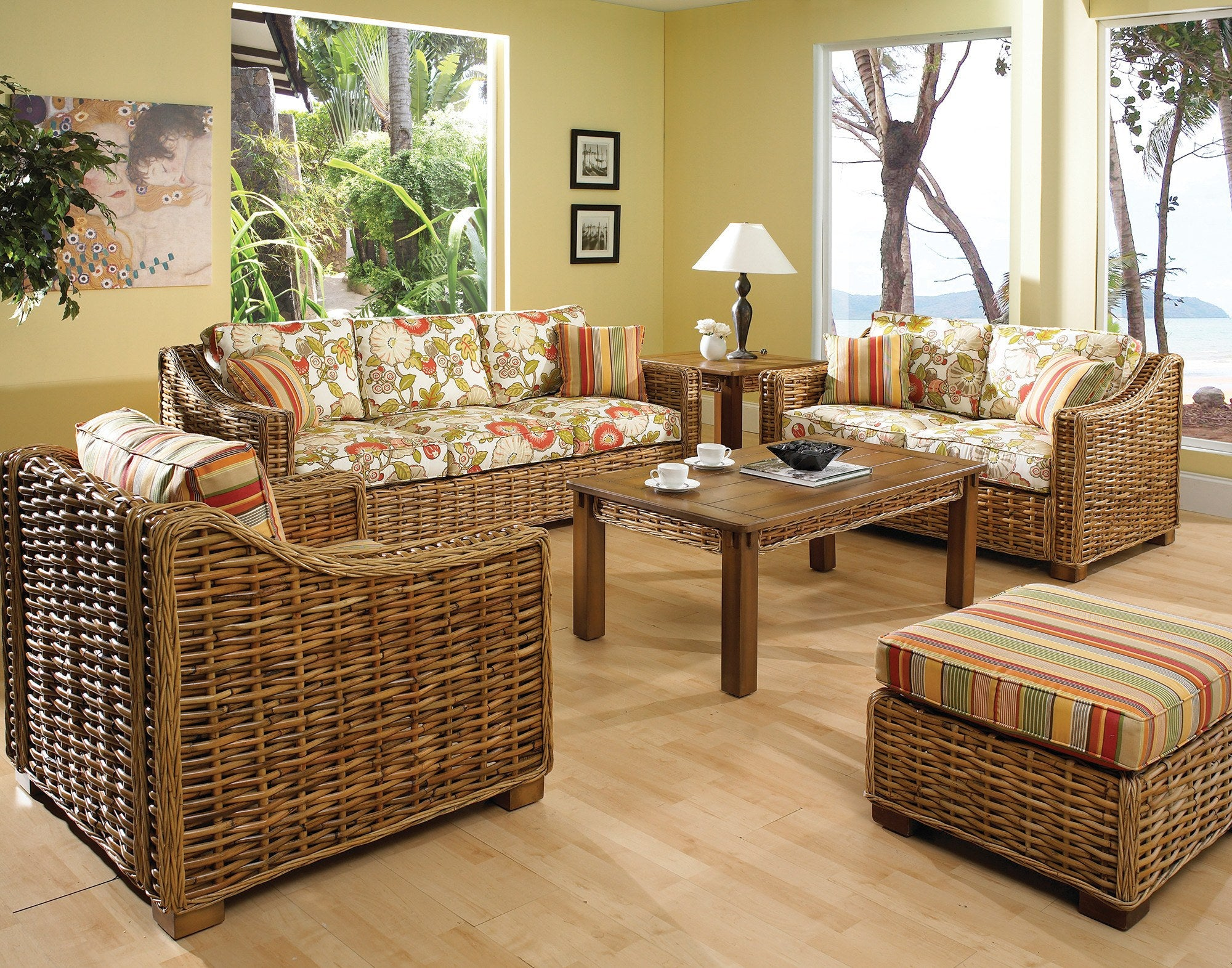 Designer Wicker & Rattan By Tribor Freeport Loveseat by Designer Wicker from Tribor Loveseat - Rattan Imports