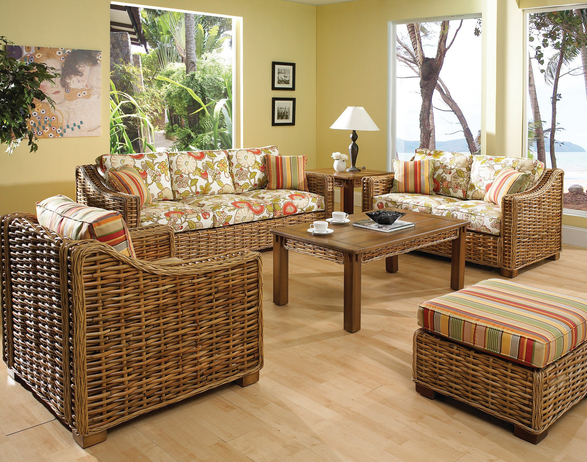 Designer Wicker & Rattan By Tribor Freeport Sofa by Designer Wicker from Tribor Sofa - Rattan Imports