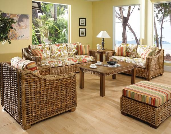 Designer Wicker & Rattan By Tribor Freeport Ottoman by Designer Wicker from Tribor Ottoman - Rattan Imports