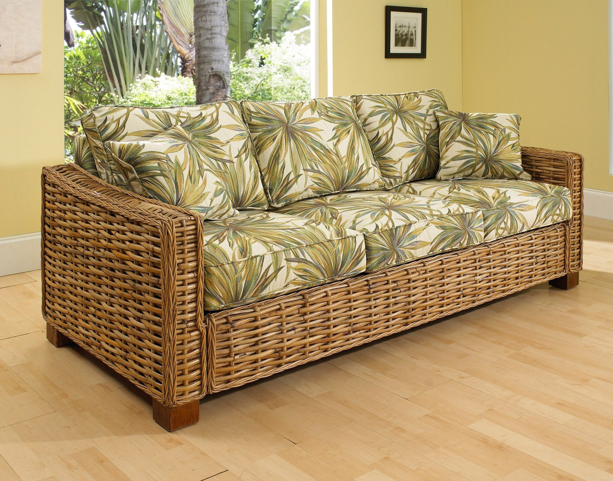 Designer Wicker & Rattan By Tribor Freeport Sleeper Sofa by Designer Wicker from Tribor Sofa - Rattan Imports