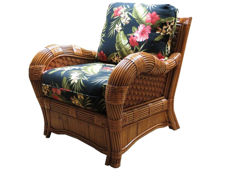Spice Islands Kingston Reef Arm Chair In Cinnamon - Rattan Imports