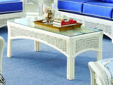 Spice Islands Spice Islands Regata Coffee Table White Coffee Table - Rattan Imports