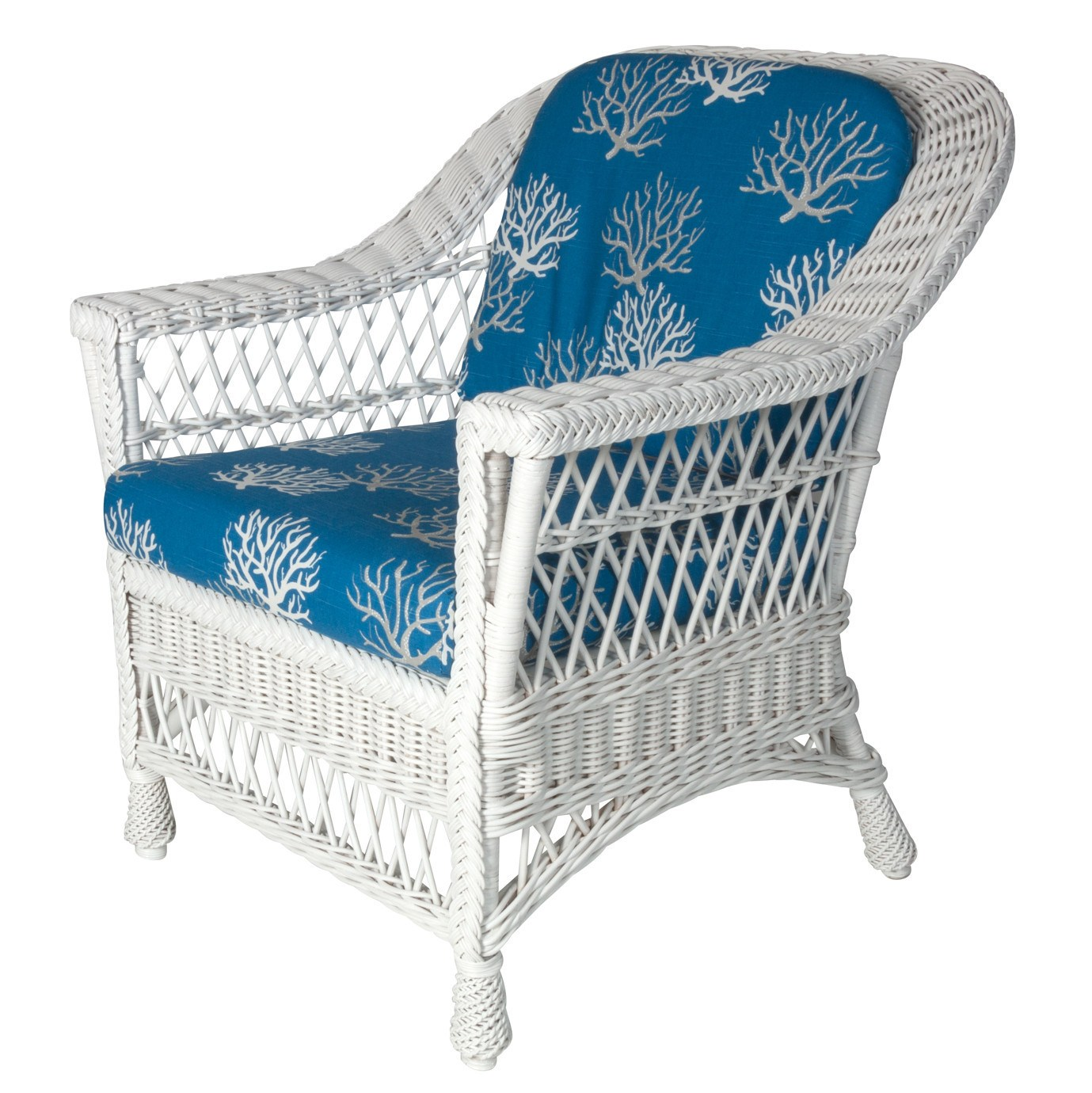 Designer Wicker & Rattan By Tribor Harbor front Arm Chair by Designer Wicker from Tribor Chair - Rattan Imports