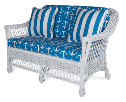 Designer Wicker & Rattan By Tribor Harbor Front Loveseat Designer Wicker from Tribor Loveseat - Rattan Imports