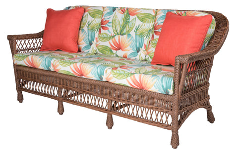Designer Wicker & Rattan By Tribor Harbor Front Sofa by Designer Wicker from Tribor Sofa - Rattan Imports