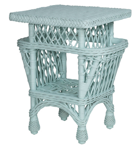 Designer Wicker & Rattan By Tribor - Harbor Front Accent table w/pockets -  -  - 1