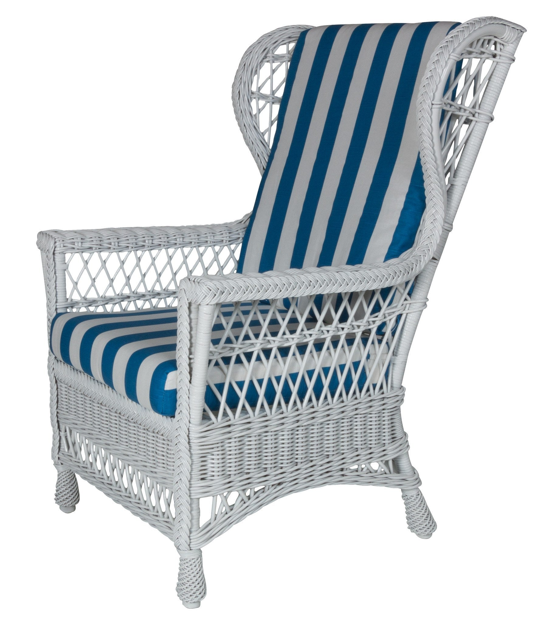 Designer Wicker & Rattan By Tribor Harbor Front Wing Chair by Designer Wicker from Tribor Chair - Rattan Imports