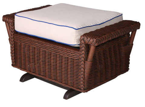 Designer Wicker & Rattan By Tribor - Bar Harbor Gliding Ottoman -  -  - 1