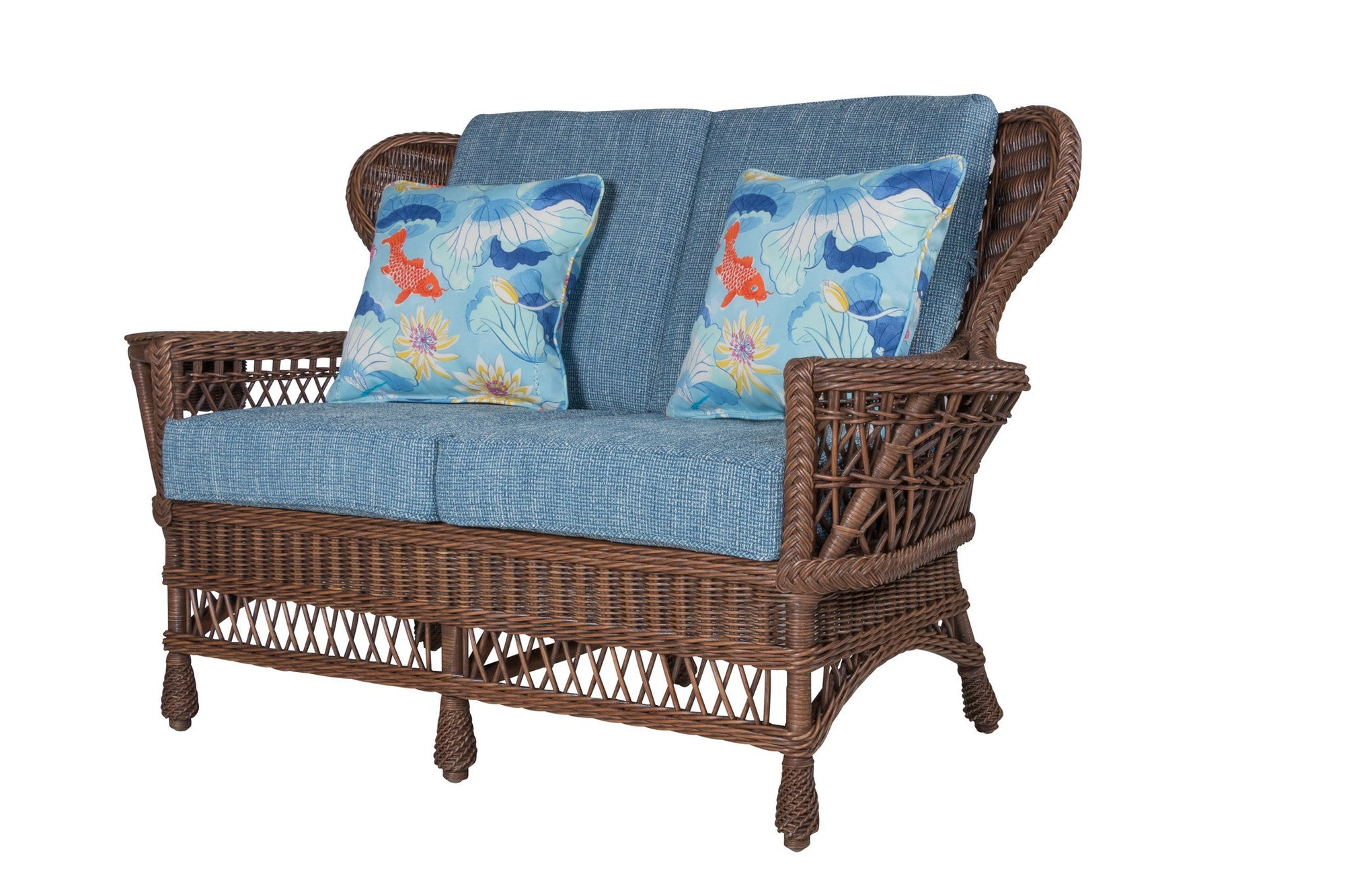Designer Wicker & Rattan By Tribor Concord Loveseat by Designer Wicker from Tribor Loveseat - Rattan Imports