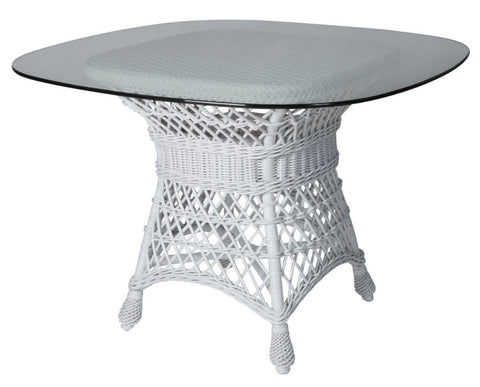 "Designer Wicker & Rattan By Tribor Concord Dining Table Base 30""W x 30""D x 28""H Table Base - Rattan Imports"