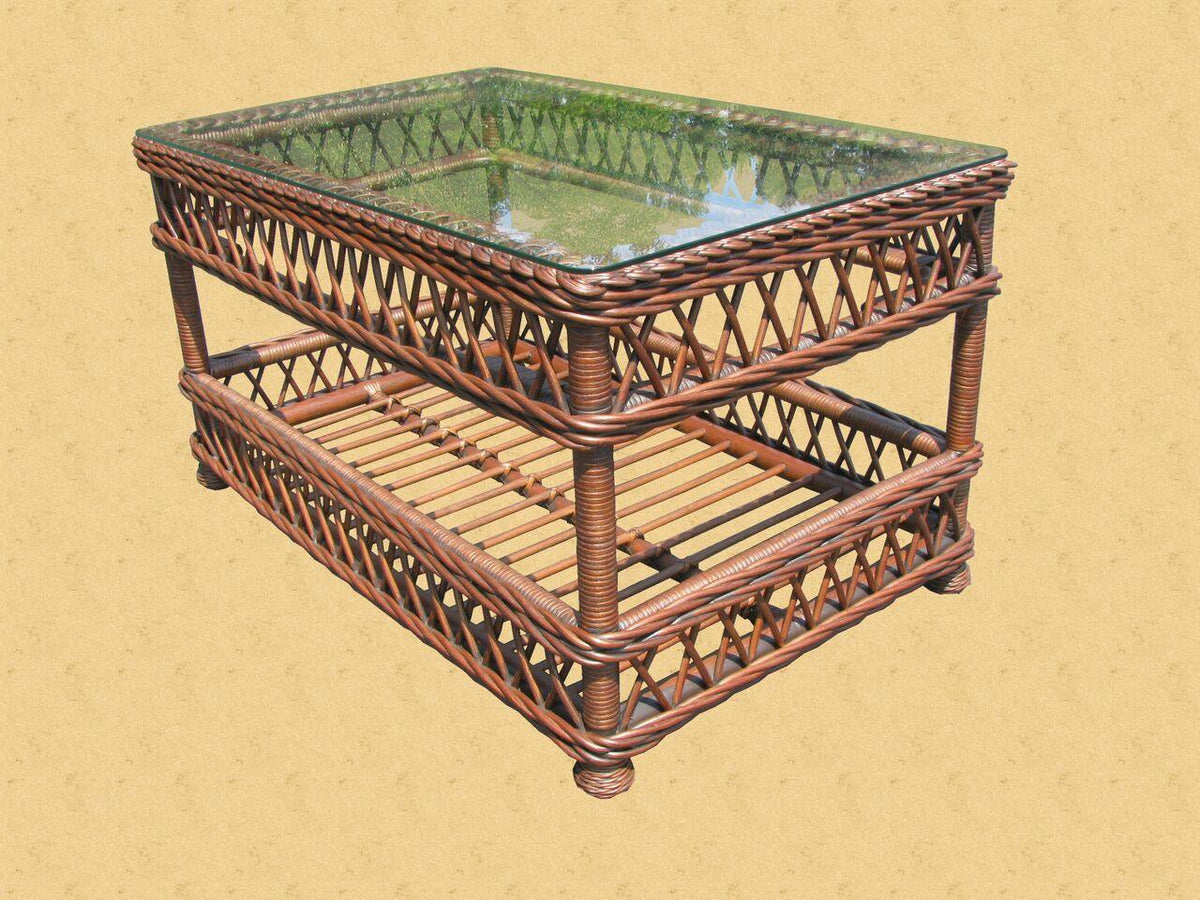 Spice Islands Spice Islands Bar Harbor Coffee Table Brownwash Coffee Table - Rattan Imports