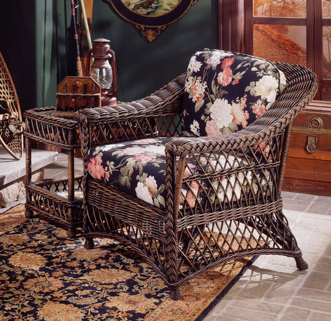 Spice Islands Spice Islands Bar Harbor Arm Chair Brownwash Chair - Rattan Imports