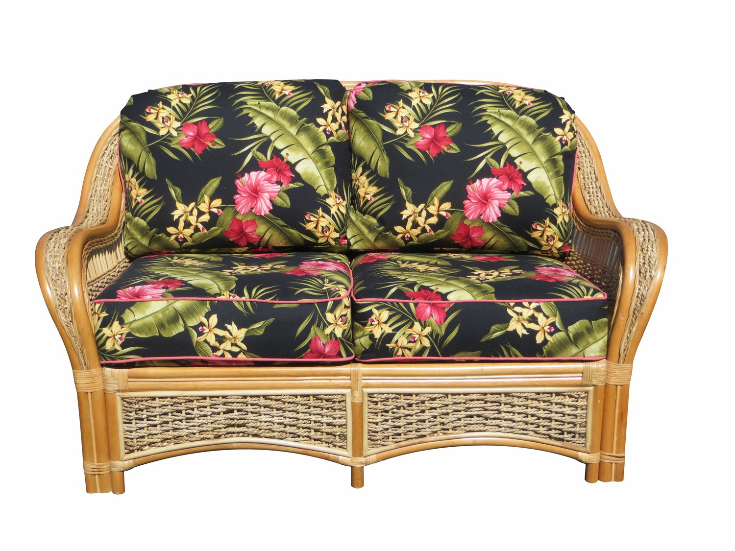 Spice Islands Islander Loveseat Natural - Rattan Imports