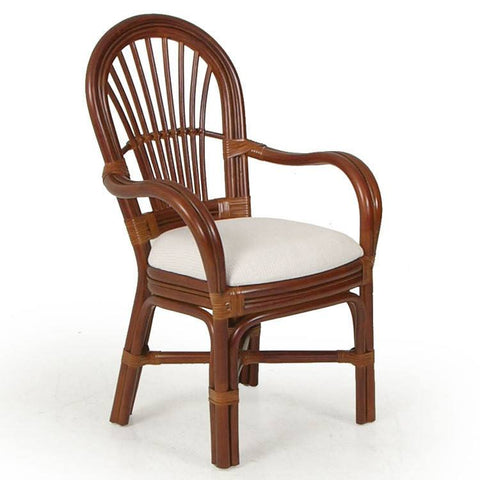 Watermark Living Dining Arm Chair Pecan Glaze 5510 Chair - Rattan Imports