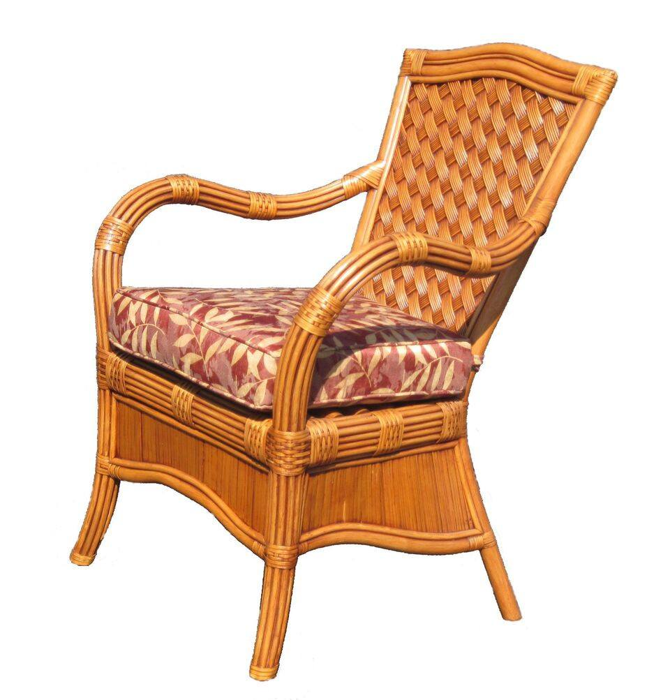 Spice Islands Kingston Reef Dining Arm Chair In Cinnamon By Spice Islands - Rattan Imports