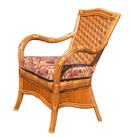 Spice Islands Spice Islands Kingston Reef Dining Arm Chair In Cinnamon By Spice Islands Chair - Rattan Imports