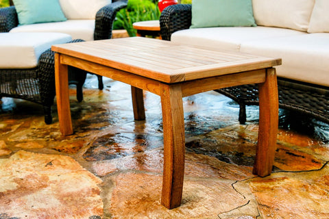 Tortuga Outdoor Tortuga Outdoor Jakarta Teak Rectangle Coffee Table Coffee Table - Rattan Imports