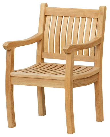 Tortuga Outdoor Tortuga Outdoor Jakarta Teak Arm Chair Chair - Rattan Imports