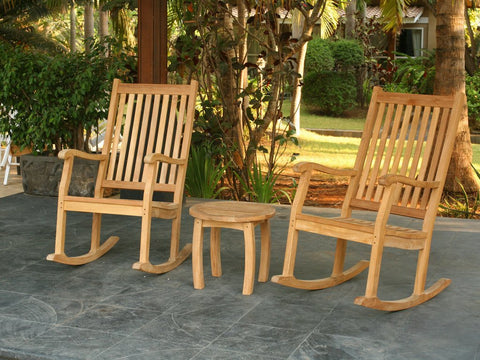 Tortuga Outdoor Jakarta Teak Rocking Chair Set