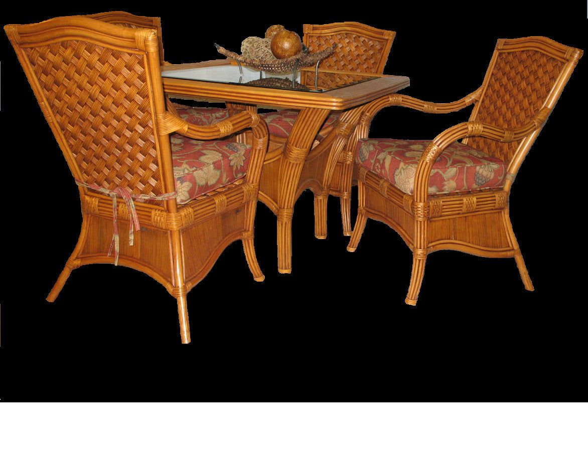 Spice Islands Kingston Reef 5 Piece Dining Set In Cinnamon - Rattan Imports