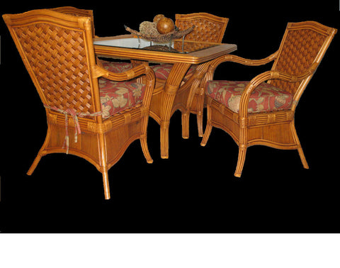 Kingston Reef 5 Piece Dining Set in Cinnamon-Spice Islands-Rattan Imports