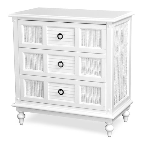 Sea Winds Trading Sea Winds Trading Key West 3 Drawer Nightstand Nightstand - Rattan Imports