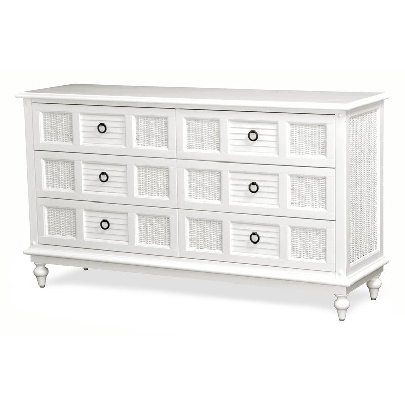 Sea Winds Trading Sea Winds Trading Key West 6 Drawer Dresser Dresser - Rattan Imports