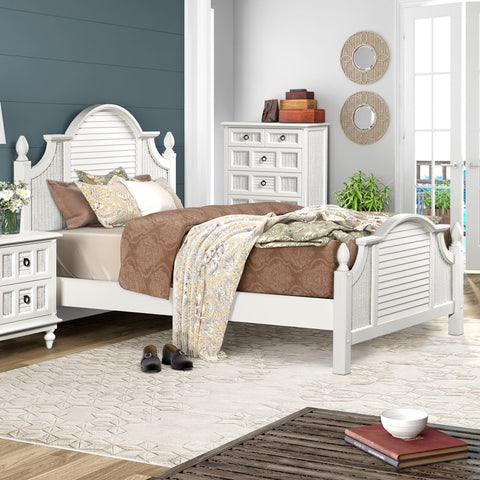 Sea Winds Trading Sea Winds Trading Key West Shutter Queen Bed Bed - Rattan Imports