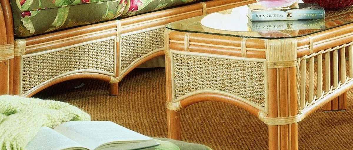 Spice Islands Spice Islands Seascape Coffee Table Natural Coffee Table - Rattan Imports