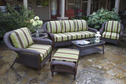 Tortuga Outdoor Lexington 6 Piece Seating Set (Sofa & 2 Chairs)-Tortuga Outdoor-Rattan Imports